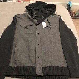 banana republic jacket with pockets and hoodie